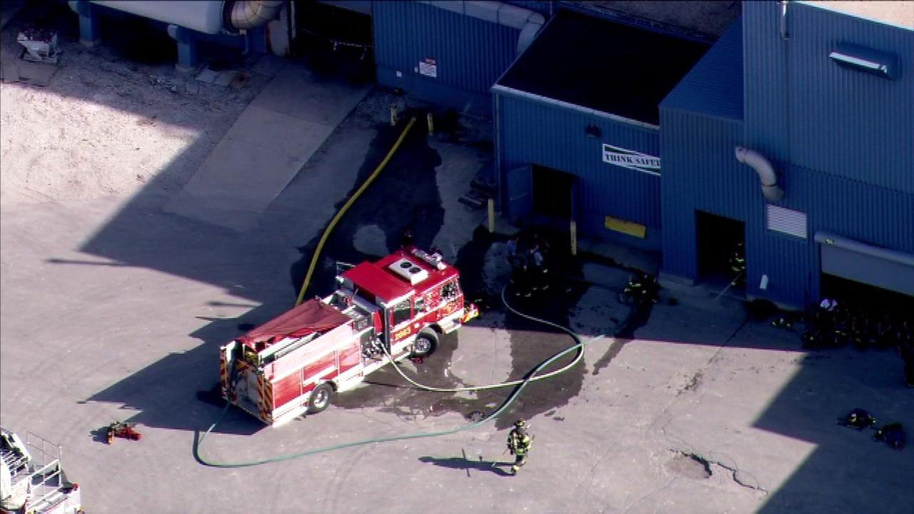 Fire reported at Alsip paper mill