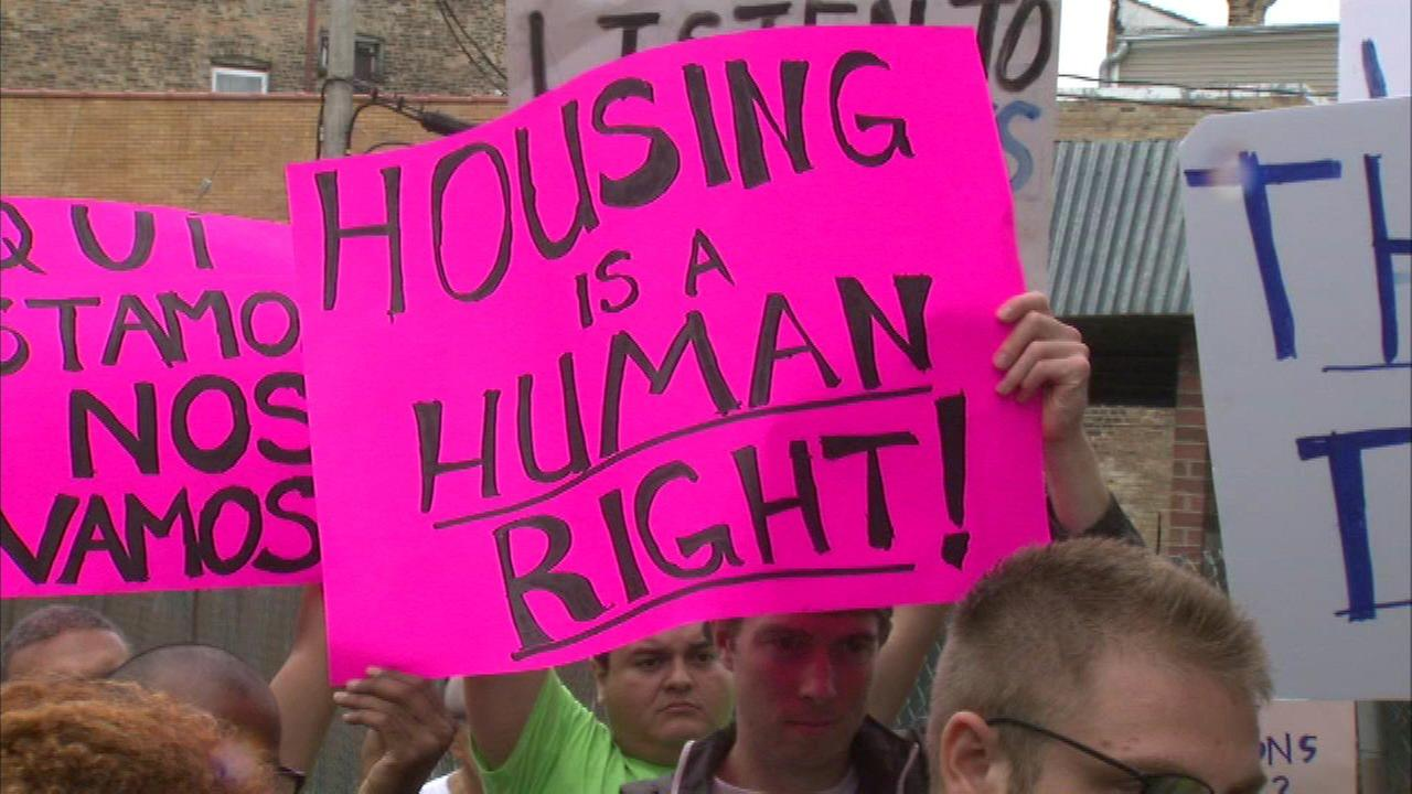 Logan Square residents protest new housing development
