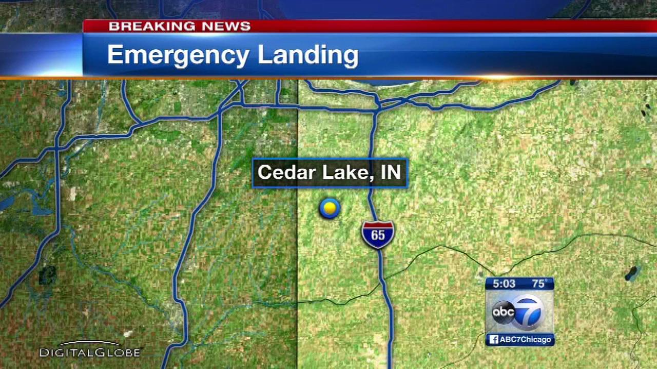 Small plane makes emergency landing in field near Cedar Lake