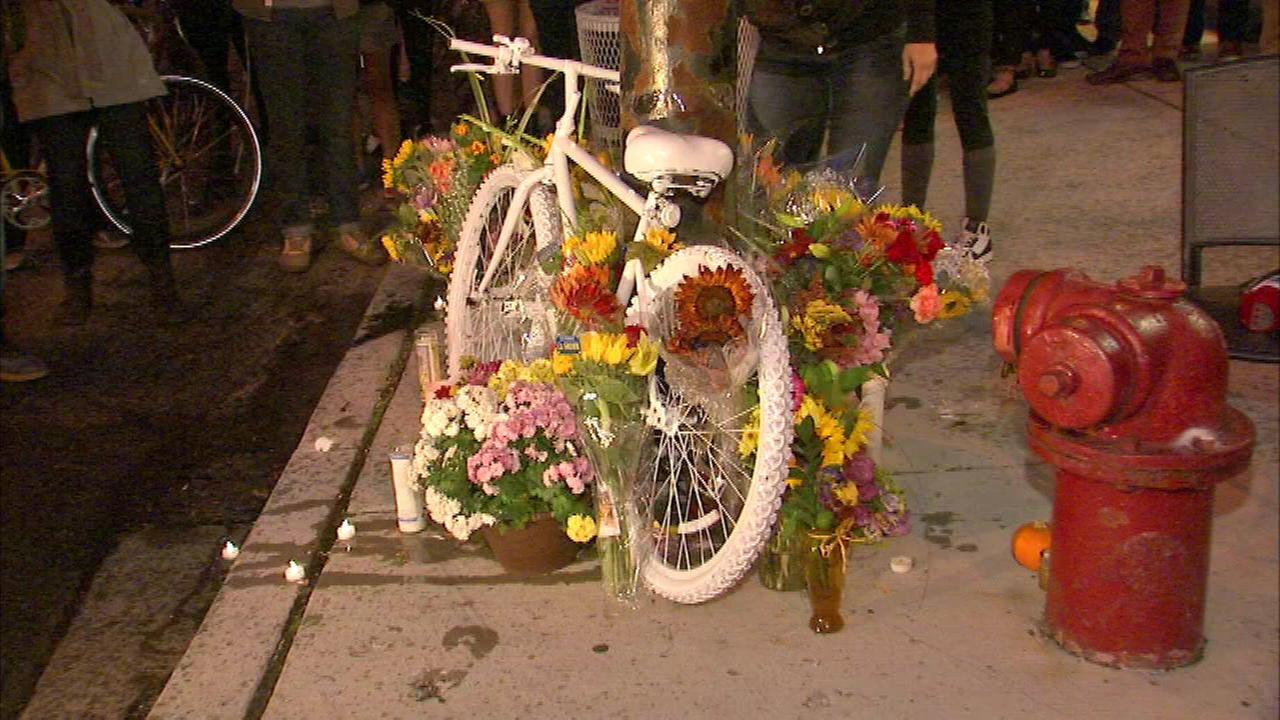 Bicyclist fatally struck in Roscoe Village remembered with ghost bike