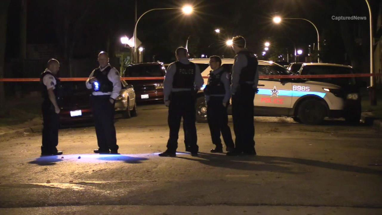 Police investigate after a 13-year-old boy was wounded in a shooting in the West Englewood neighborhood Friday night.