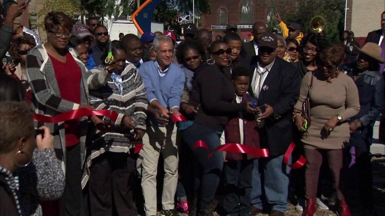 Chicago officials dedicated a South Side park to Hadiya Pendleton, a 15-year-old girl killed by gun violence.