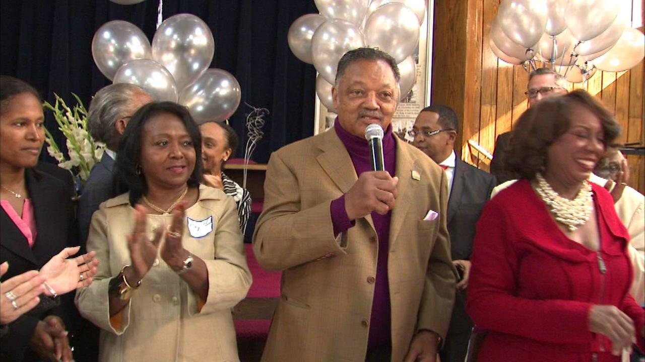 A huge birthday celebration took place for the Reverend Jesse Jackson on Chicagos South Side.