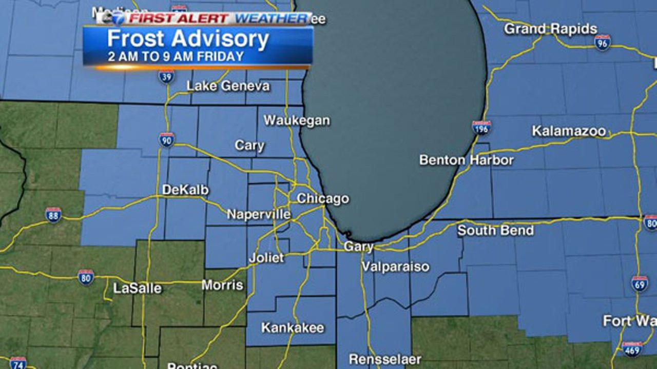 Chicago Weather: Frost Advisory issued for city, suburbs overnight