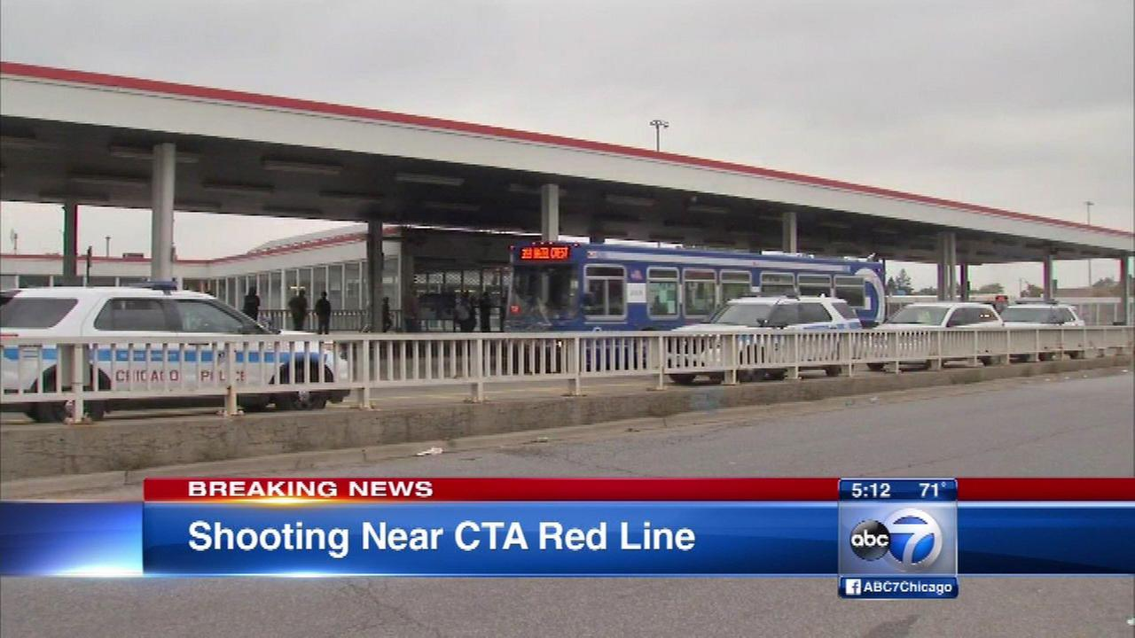 Man, 23, shot near CTA Red Line station
