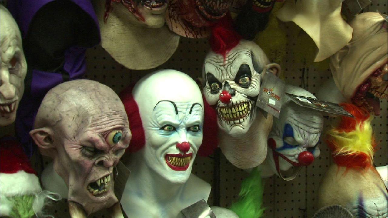 target pulls clown masks chicago costume stores unfazed abc7chicagocom