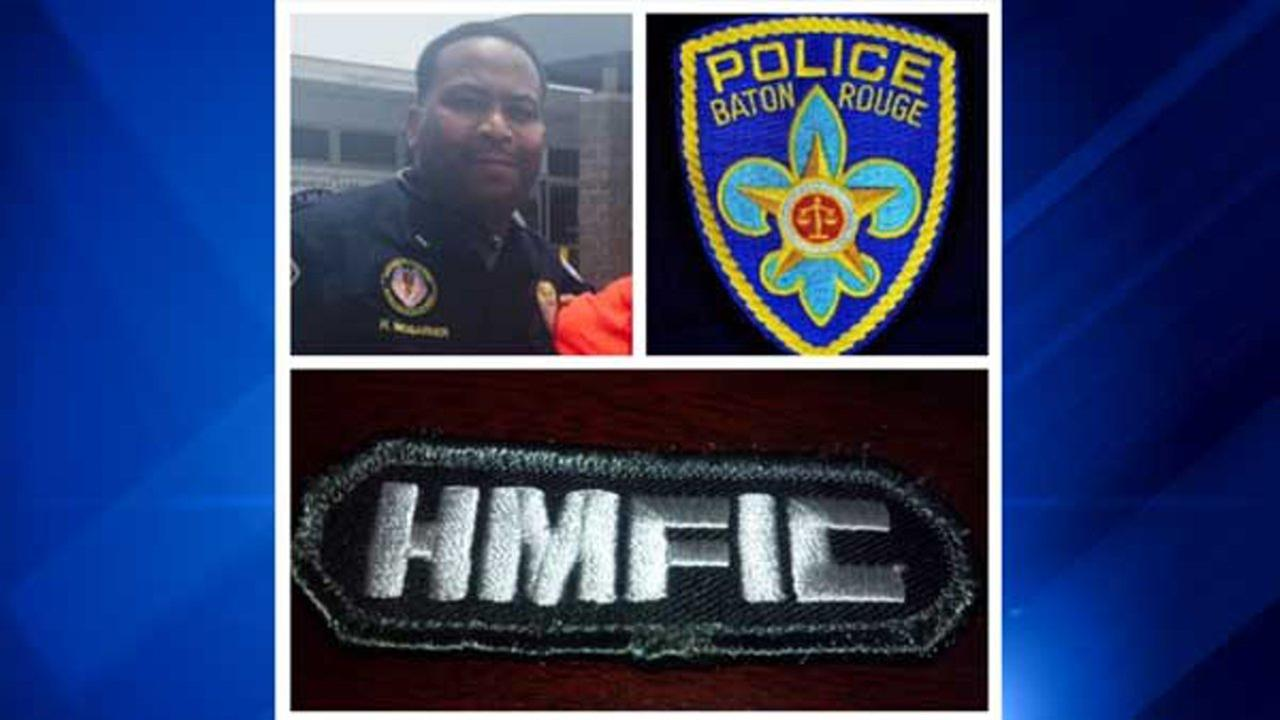 Headshot: Baton Rouge Police; patch photo: Lt. McGarner Facebook page