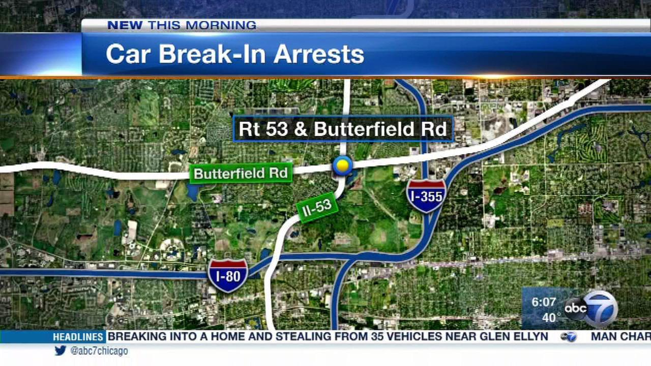 5 teens arrested in Glen Ellyn crime spree