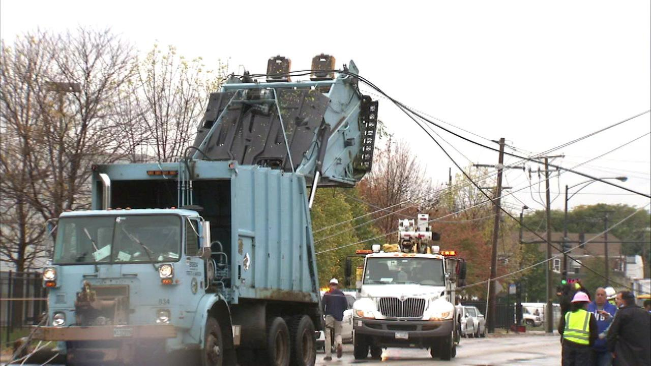 Little Village truck crash causes power outage