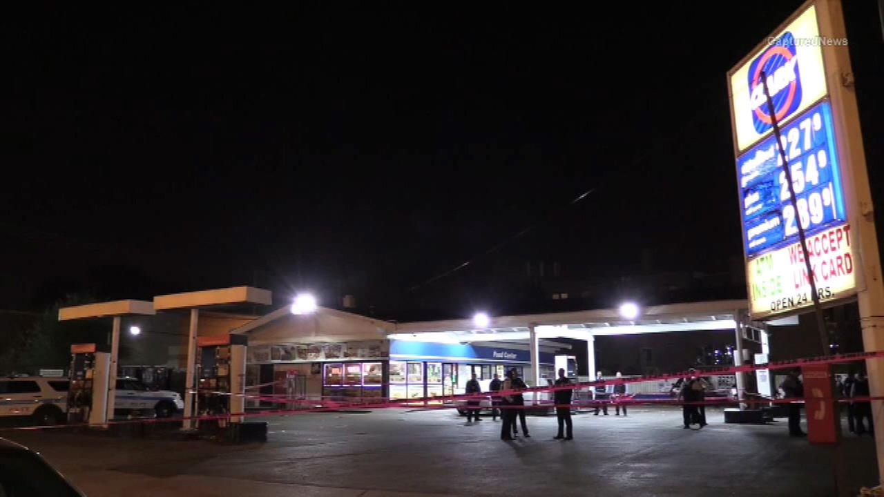 A man and women were killed in a shooting at a gas station in the Back of the Yards neighborhood.