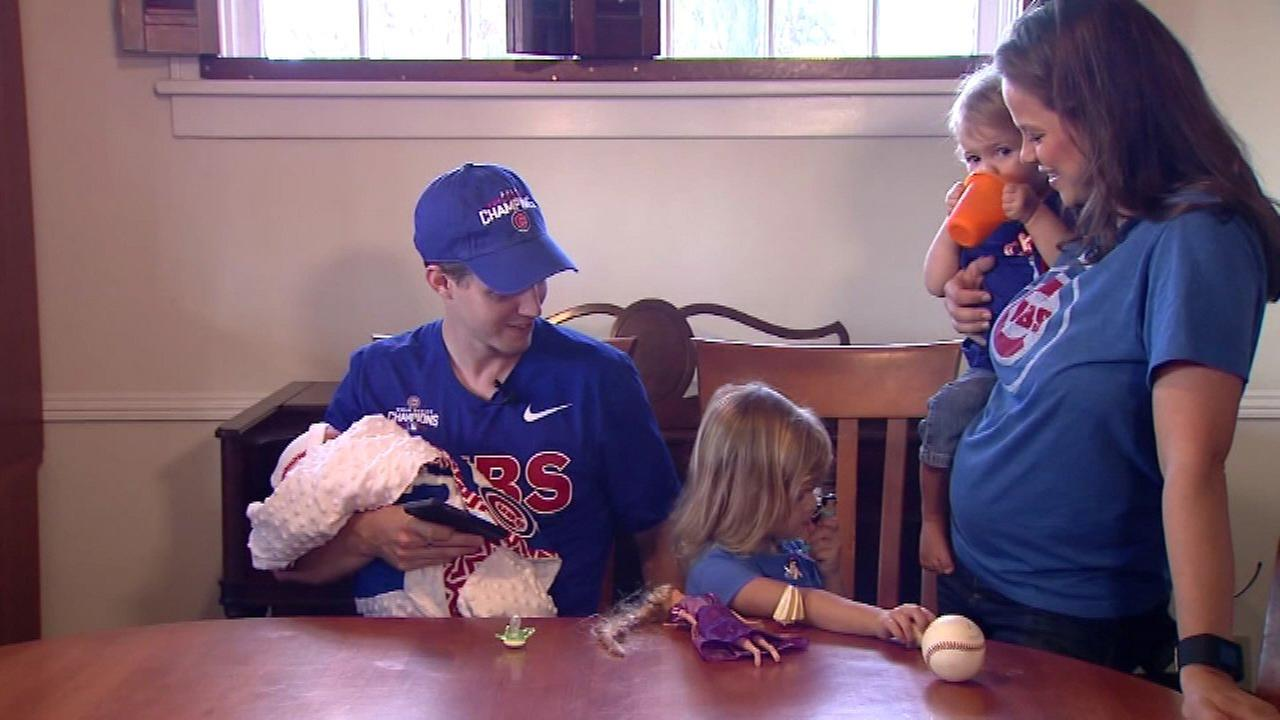 Former Miss America names baby 'Wrigley' after losing bet with husband