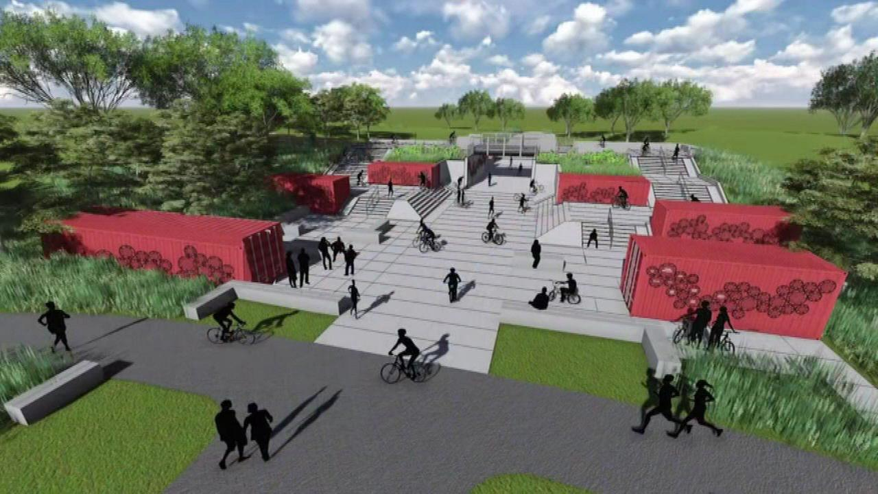 A rendering of a new bike park at Big Marsh.