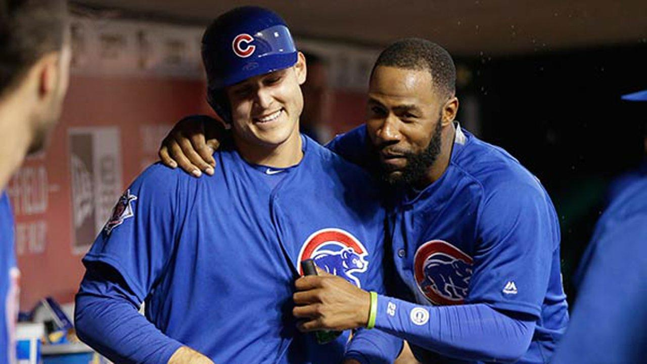Chicago Cubs Anthony Rizzo and Jason Heyward (FILE)