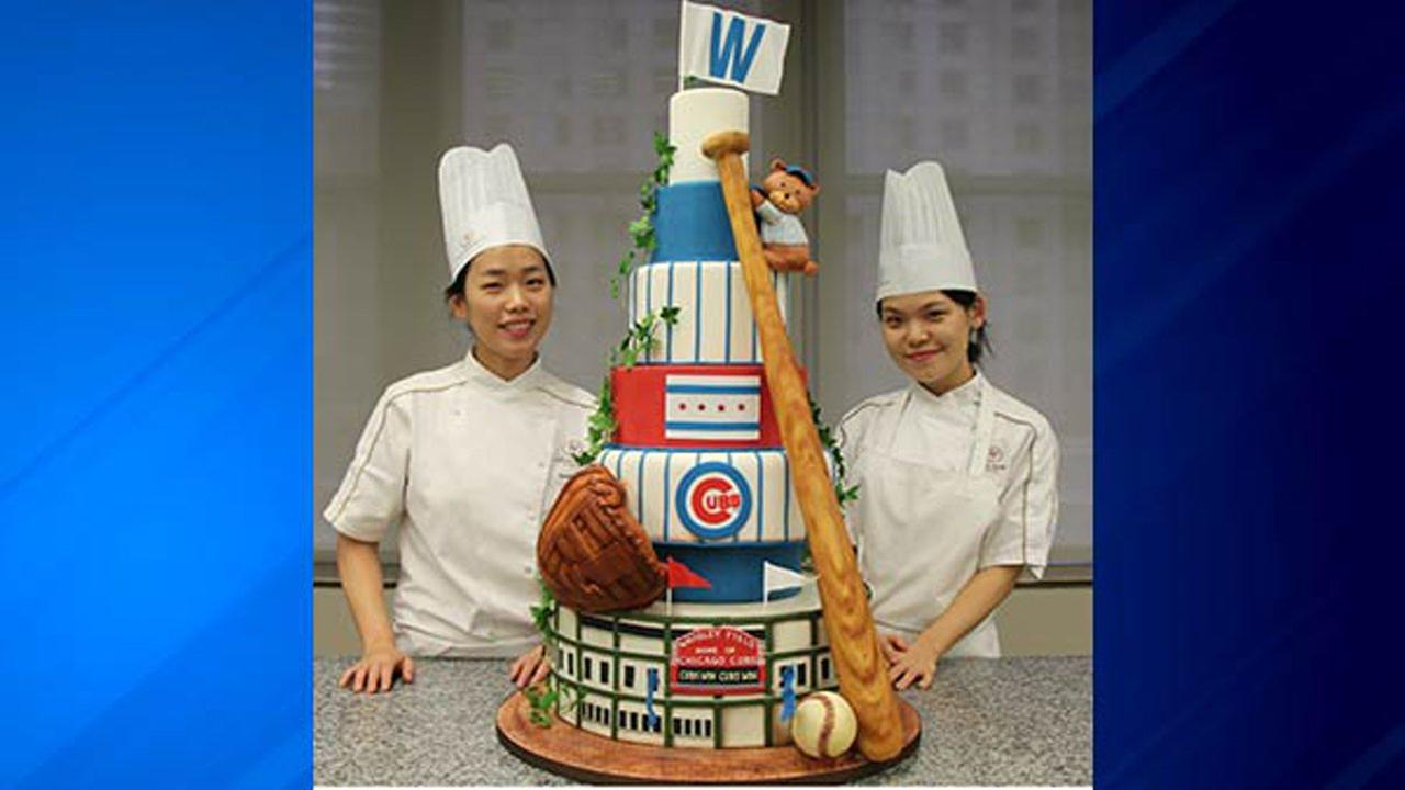 Chicago Cubs World Series Win Honored With Massive Cake