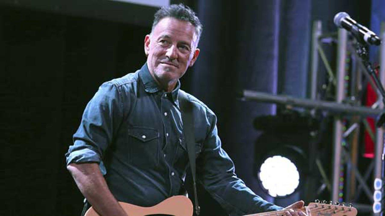Bruce Springsteen performs at Stand Up For Heroes, presented by the New York Comedy Festival and the Bob Woodruff Foundation, at The Theater at Madison Square Garden in New York.