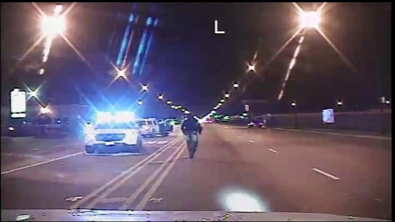 Police dash cam video of the Laquan McDonald shooting.