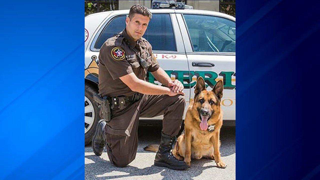 Deputy John Lanctot and Klaus.