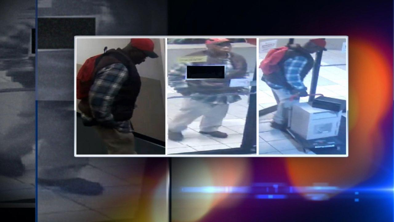 Surveillance images of a suspect in a South Loop school burglary last Saturday.