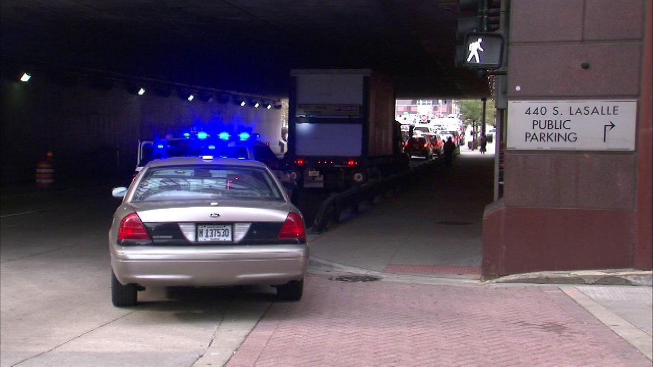 Pedestrian fatally struck by truck on Congress Parkway