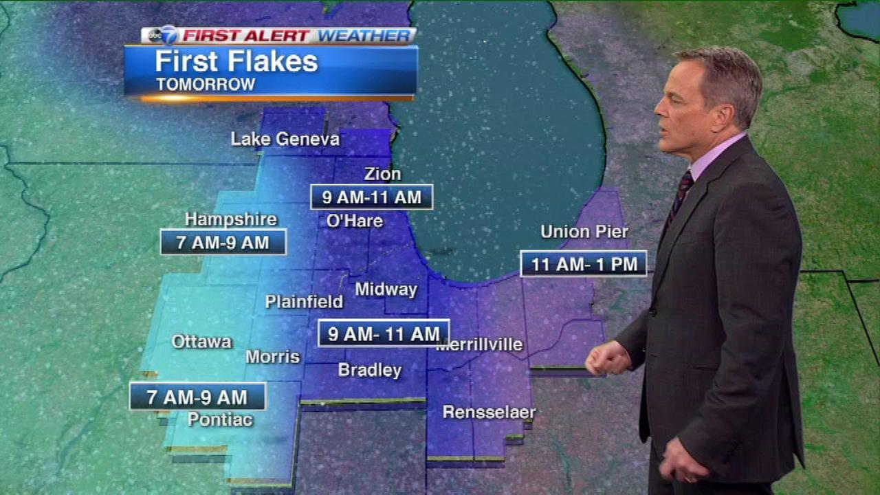 Chicago Weather: Snowfall expected Sunday; advisory issued