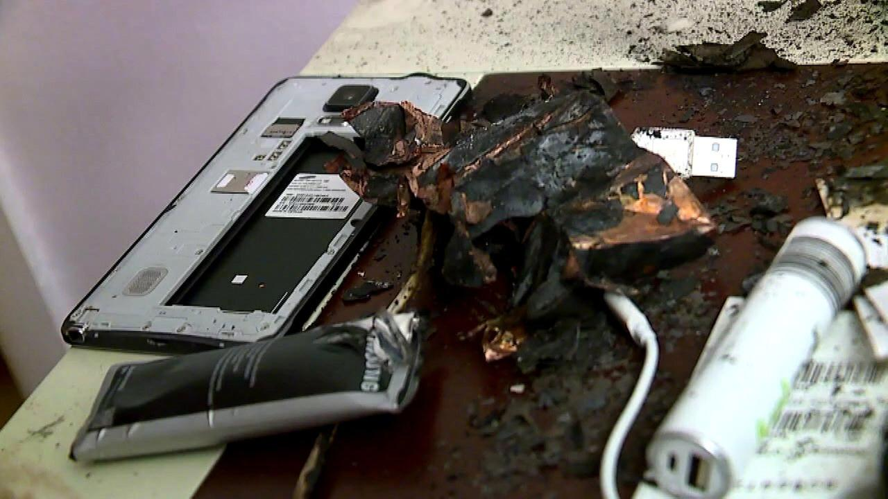 Michigan man claims Samsung Note 4 exploded