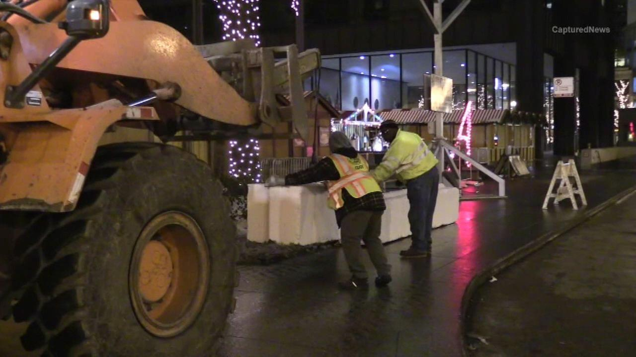 Extra barricades added around Christkindl Market
