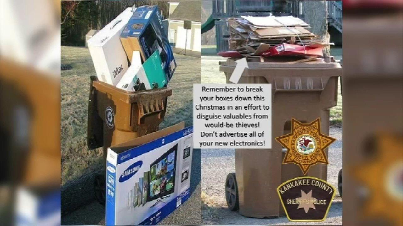 Police: Break down holiday gift boxes to prevent thieves