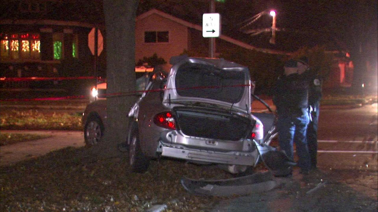 Car linked to several South Side crimes crashes into tree, police say