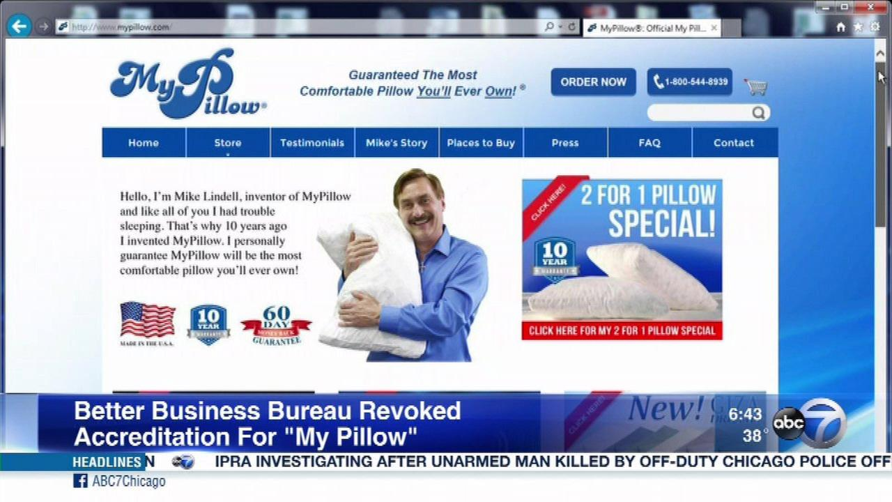 My Pillow Better Business Bureau accreditation revoked