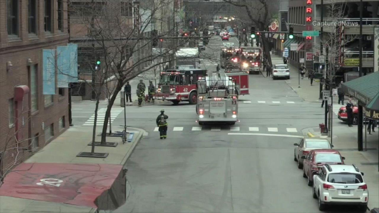 A business in Chicagos Streeterville neighborhood was evacuated Tuesday morning due to a chemical leak.