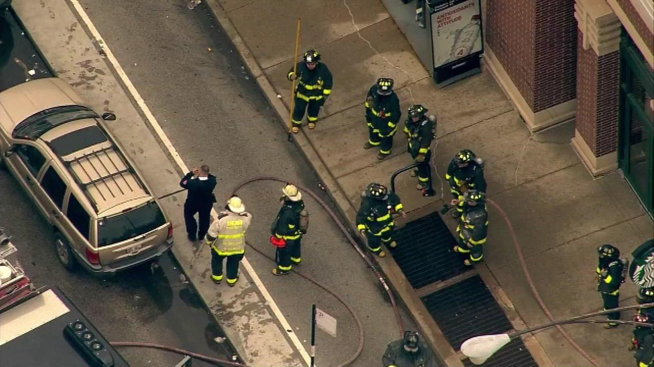 The Chicago Fire Department responded to a trash fire in a vent near the North/Clybourn Red Line station in the 1200-block of Clybourn.