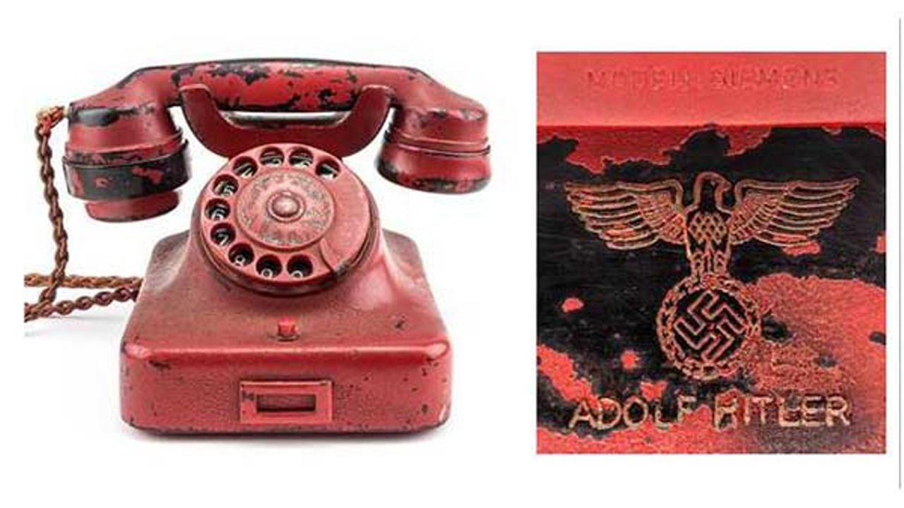 A phone used by Adolf Hitler to issue most of his commands during the last two years of World War II is going up for auction later this month.