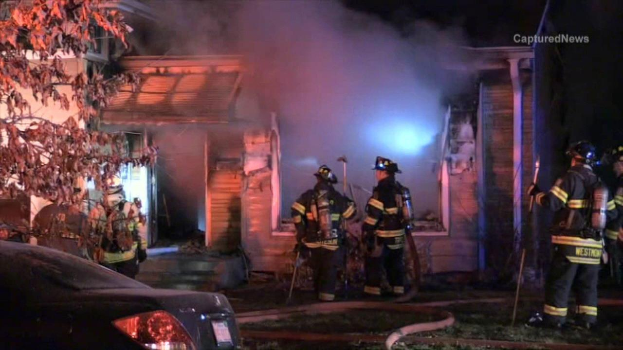 Firefighters on the scene of a fire in Downers Grove.