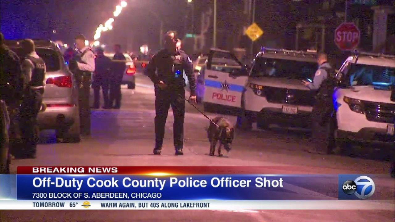 Off-duty Cook County correctional officer shot in leg