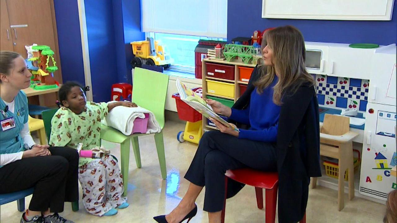 Melania Trump reads Dr. Seuss to children at NYC hospital