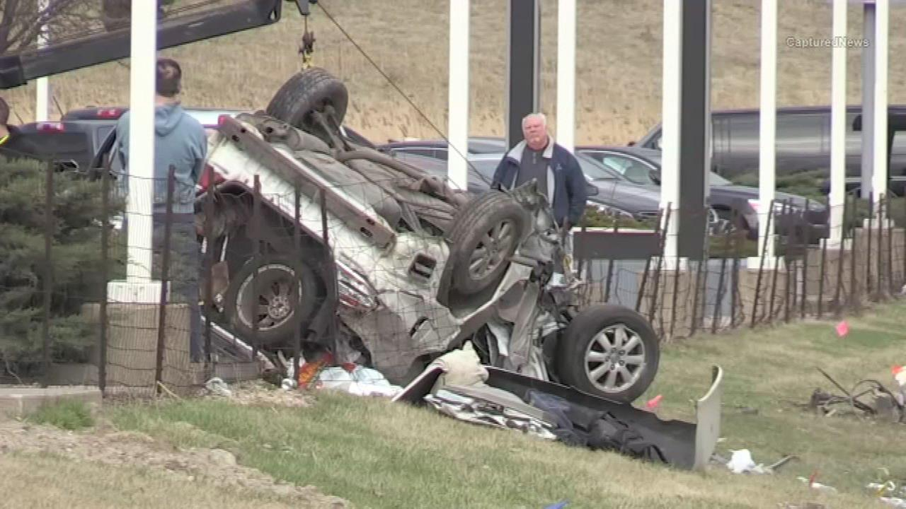 A woman was killed in a single vehicle crash in northwest Indiana Sunday afternoon, the Porter County Coroner said.