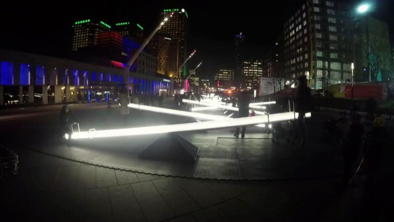 Illuminated seesaws debut at Navy Pier Thursday