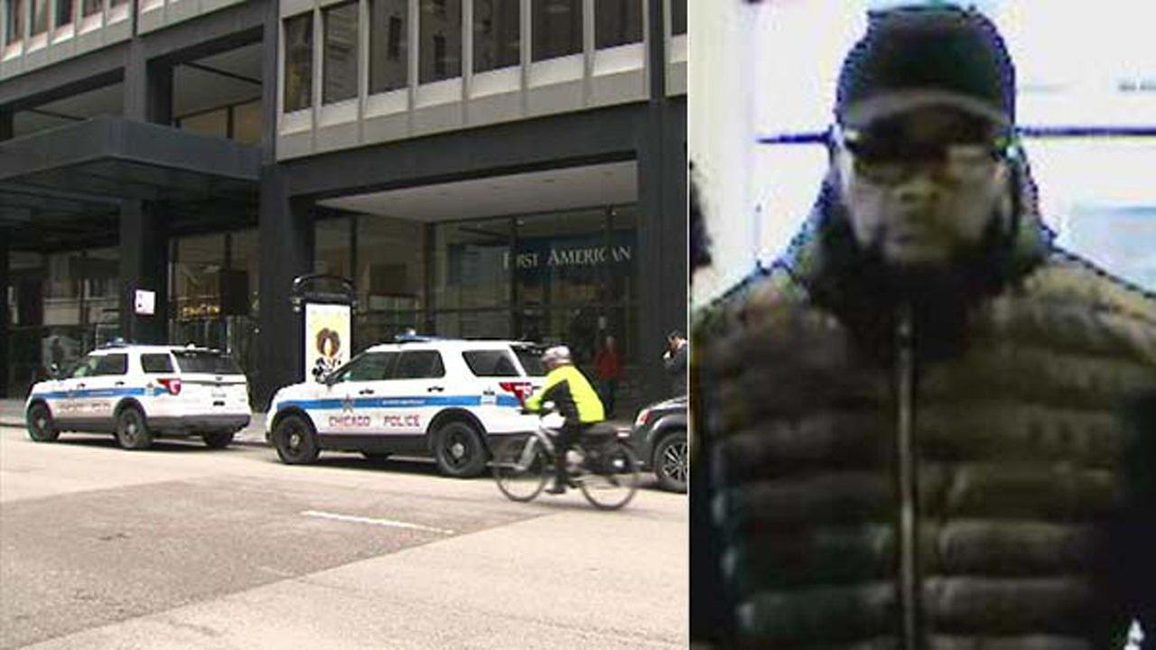 A man robbed a bank in the Loop Monday afternoon and the suspect was caught after police tracked him on a CTA bus.
