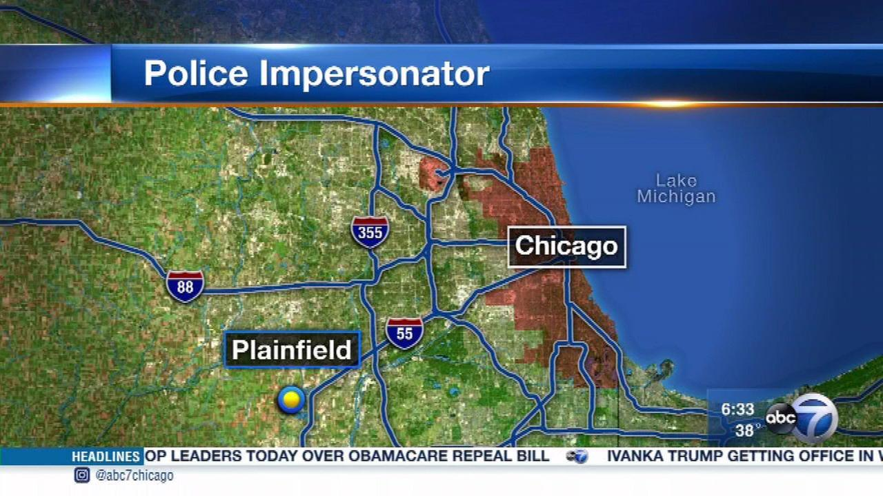 Man impersonating police officer approached woman in Plainfield