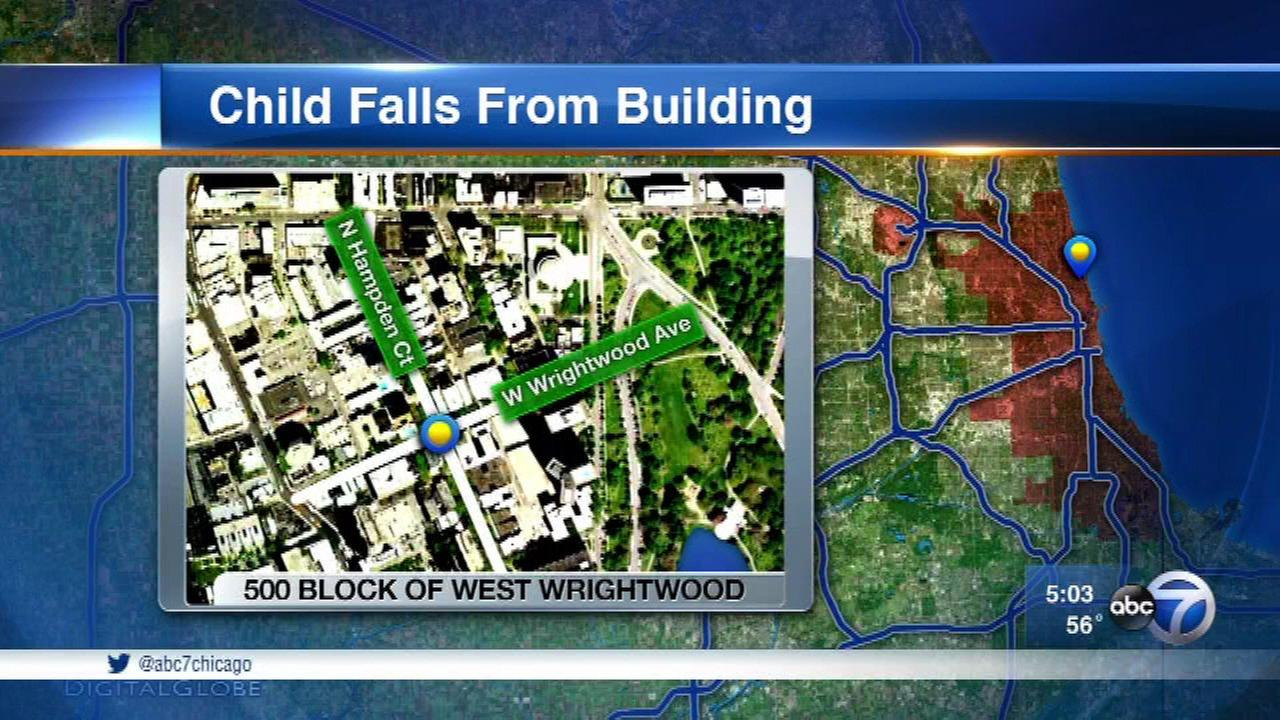 2-year-old injured in fall from North Side building