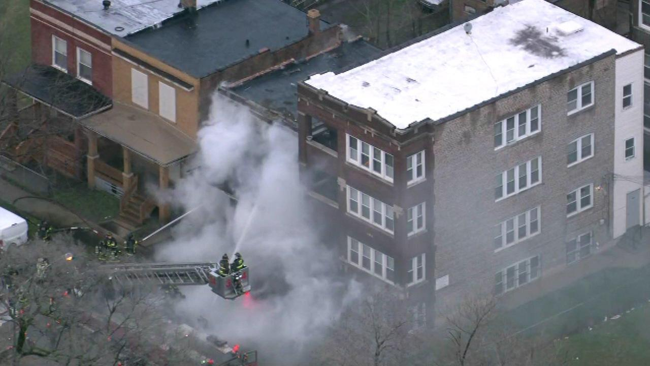 Vacant building catches fire in Parkway Gardens
