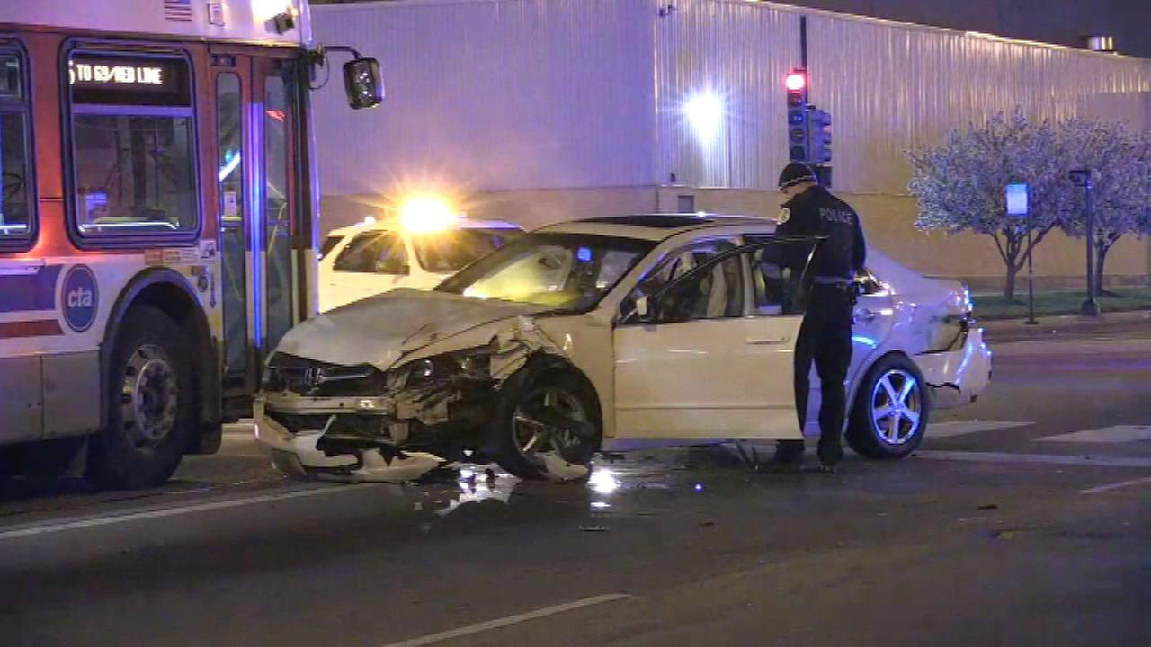 A CTA bus was involved in a crash in the 9500-block of Stony island Avenue early Sunday.