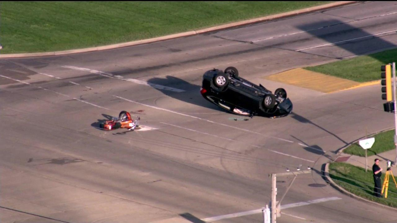 Motorcyclist critically hurt in Aurora crash; SUV driver cited