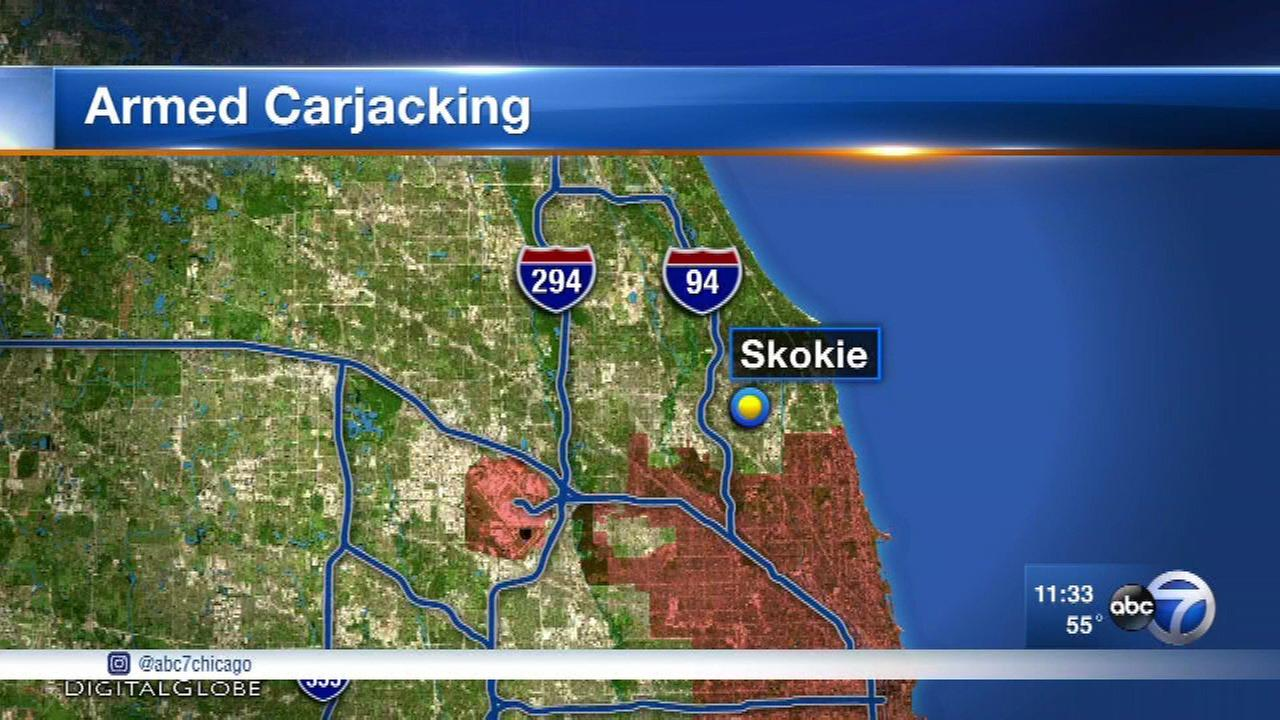 Police searching for 2 Skokie carjacking suspects