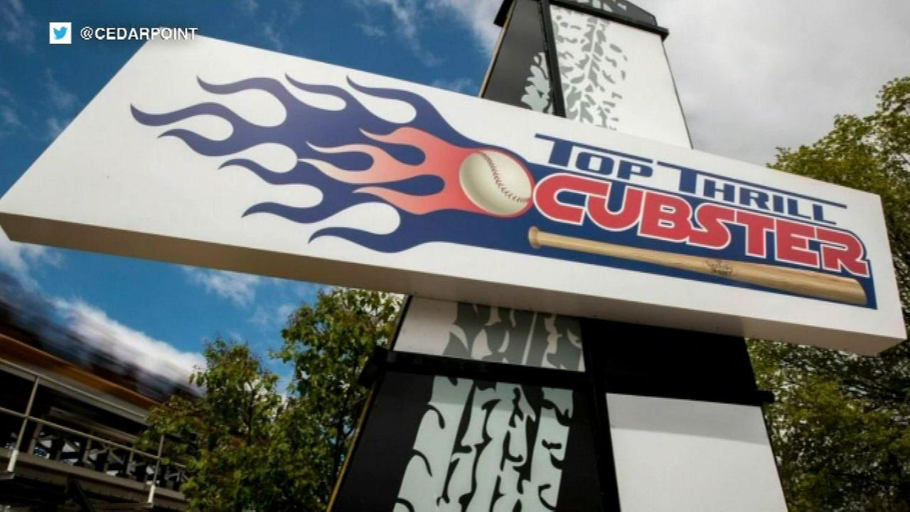 "Ohio amusement park debuts ""Cubster"" ride after World Series bet"