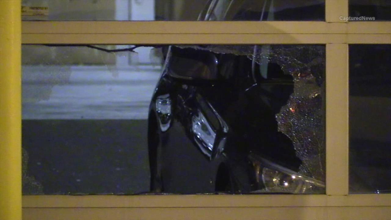 Car thief kicks in window at Goose Island dealership
