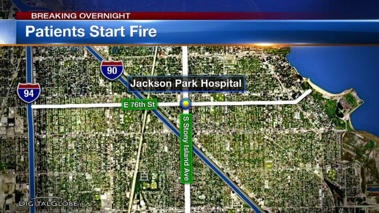 Police: Charges pending after 2 patients start fire in Jackson Park Hospital