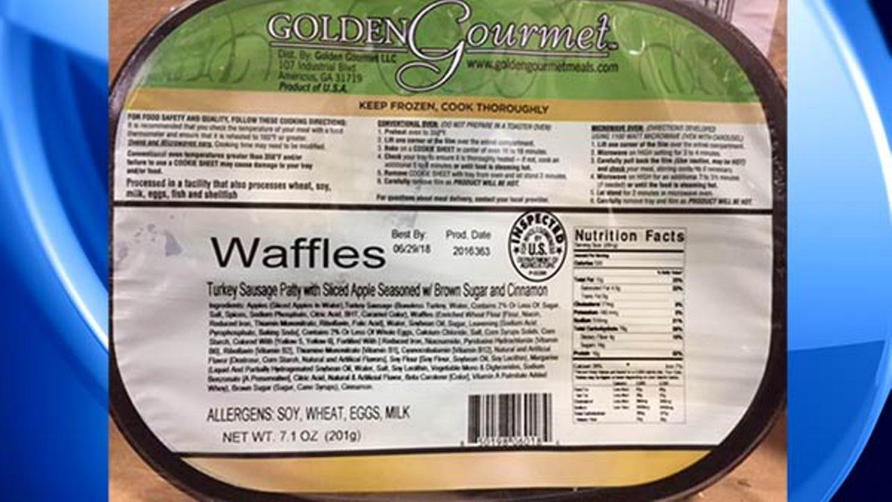 Golden Gourmet frozen waffles, turkey sausage recalled for listeria