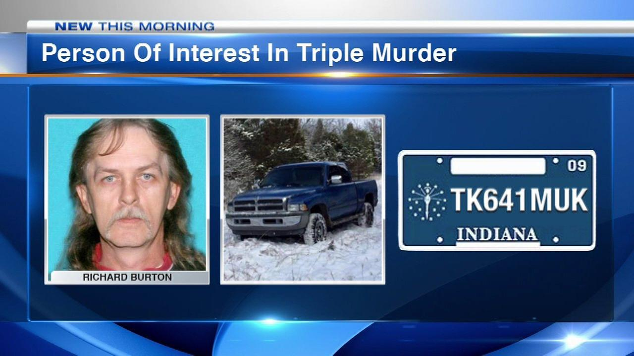 Person of interest in 3 Indiana deaths found dead, state police say