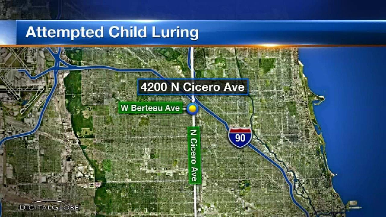 Attempted child luring reported on NW Side